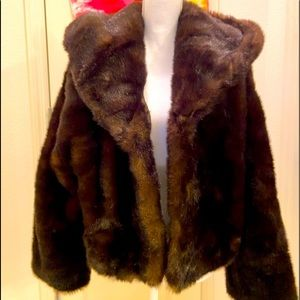 BN Without Tags Express Faux Fur Dressy Jacket